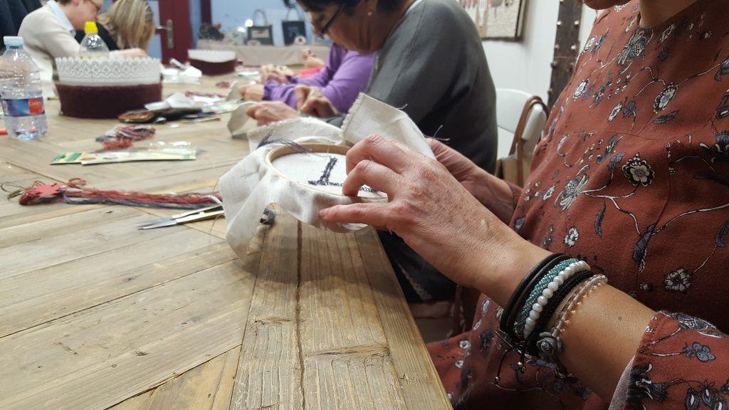 resultado bordado punch needle con la aguja magica