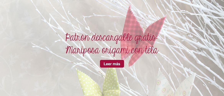 Mariposa de origami con tela