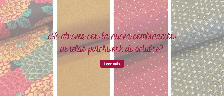 telas combinación del mes octubre patchwork manualidades fat quarter
