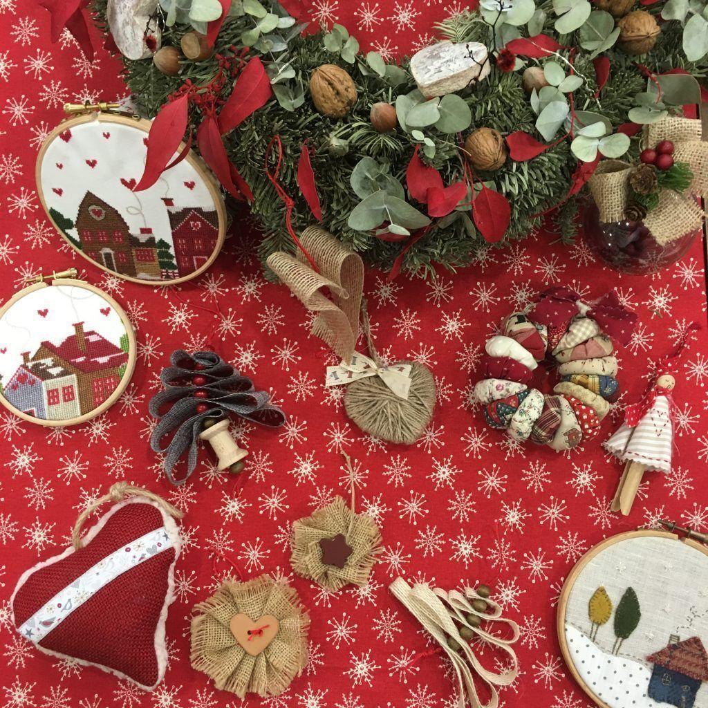 Adornos navideños telas de Luna Navidad