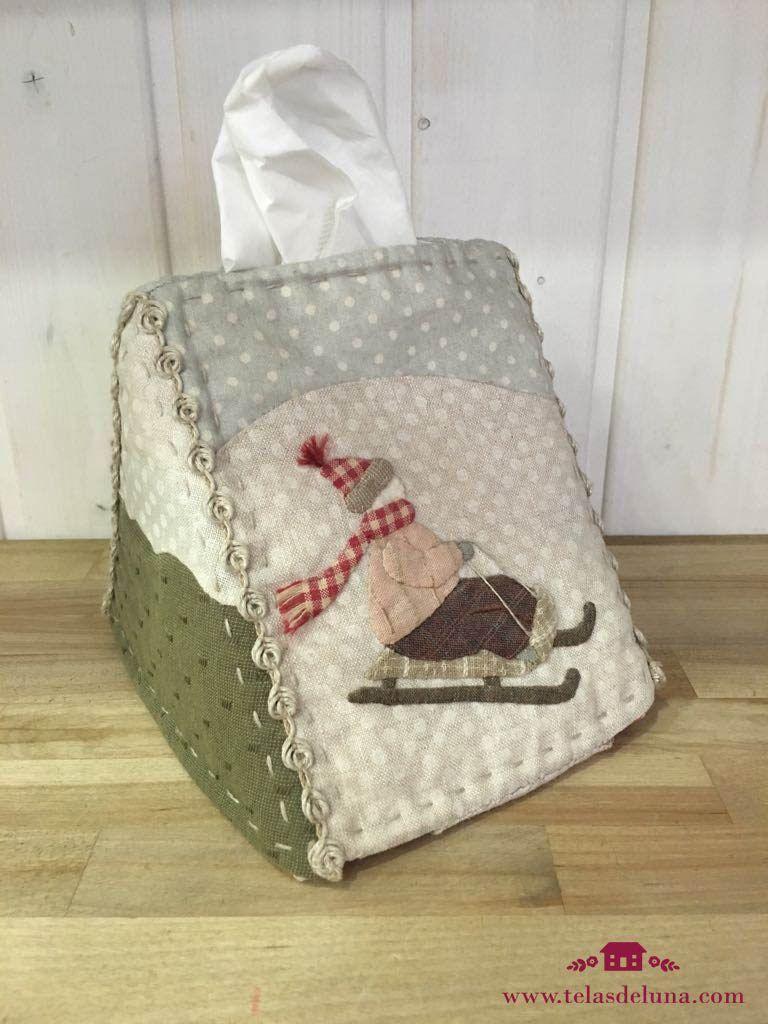 funda tela para pañuelos DIY