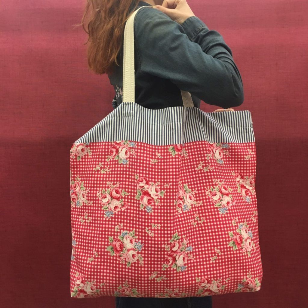 tote bag bolse con telas de loneta