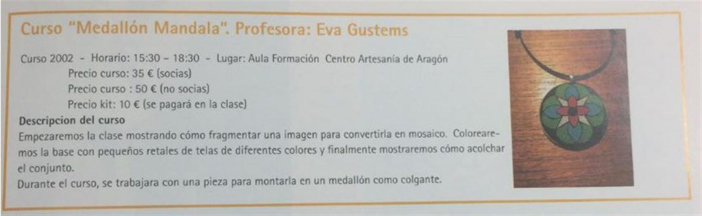 Curso medallón Mandala - Eva Gustems