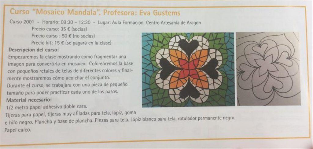 Curso Mosaico Mandala - Eva Gustems