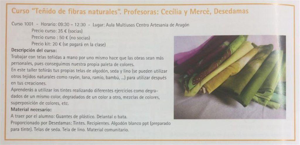 curso teñido de fibras naturales, cecilia y merce, desedamas