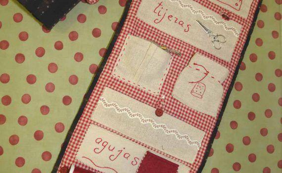 costurero portahilos de tela
